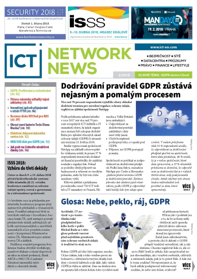 ICT NETWORK NEWS 1-2018 časopis AVERIA cover