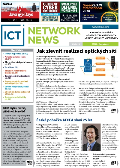 ICT NETWORK NEWS 8-9 2018 časopis AVERIA cover