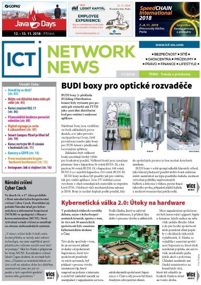 ICT NETWORK NEWS 11 2018 časopis AVERIA cover