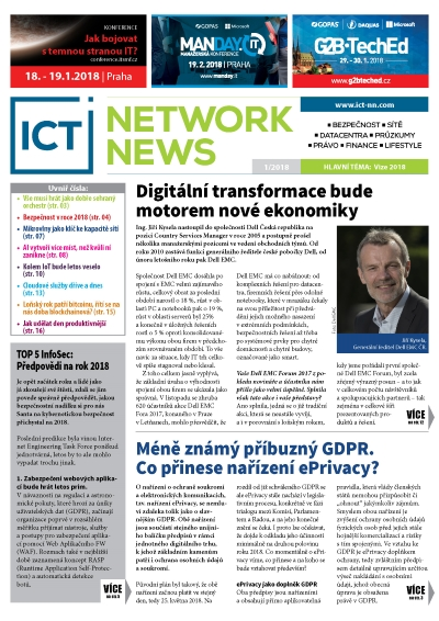 ICT NETWORK NEWS 2-2018 časopis AVERIA cover
