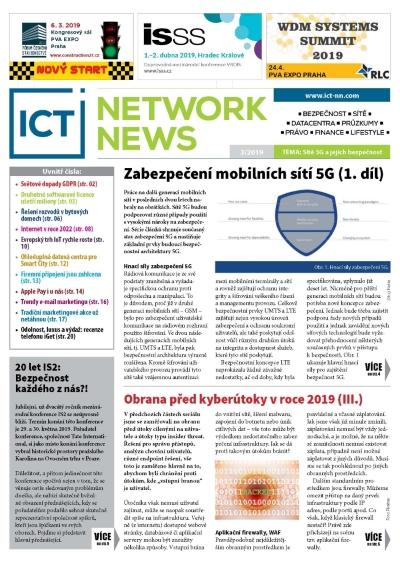 ICT NETWORK NEWS 3 2019 casopis AVERIA cover