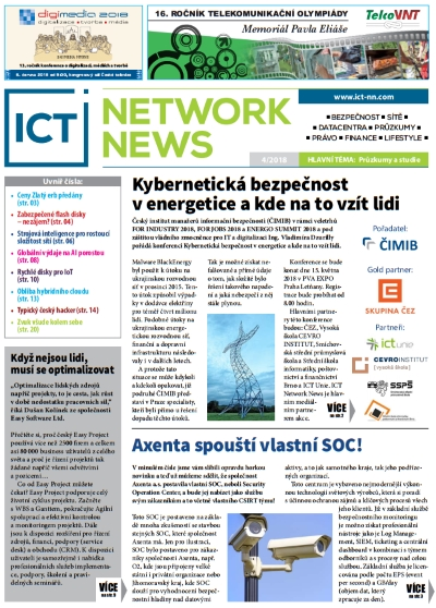 ICT NETWORK NEWS 3-2018 časopis AVERIA cover