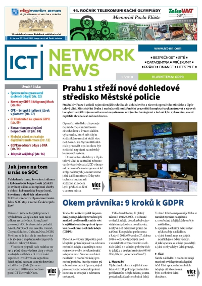 ICT NETWORK NEWS 5 2018 časopis AVERIA cover