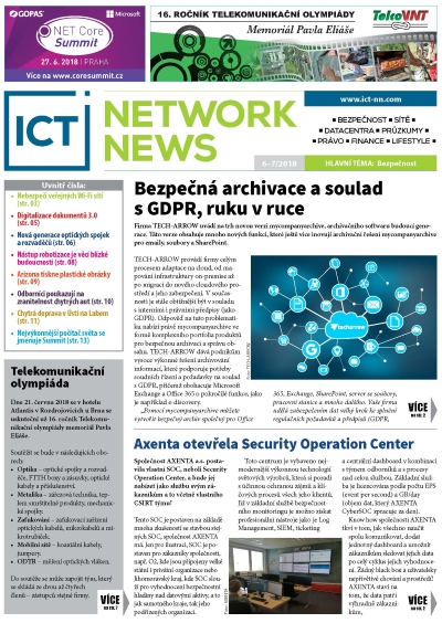 ICT NETWORK NEWS 6-7 2018 časopis AVERIA cover